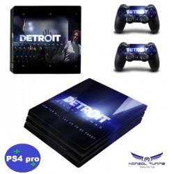 PS4 Pro - Konzolra és kontrollerre - Matrica - Detroit