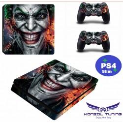 PS4 Slim - Konzolra és kontrollerre matrica - Sinster