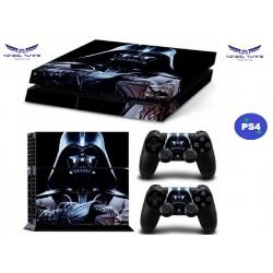 PS4 - Konzolhoz és kontrollerre matrica - Black S.W.