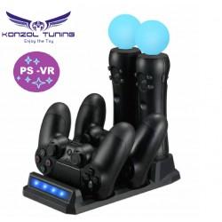 PS4 - VR - Dupla töltő állvány VR movie motion kontrollerhez és kontrollerhez