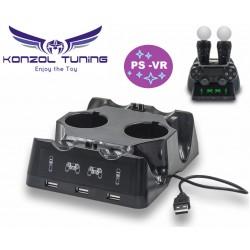 PS4 - VR - Kontroller és Movie  motion  töltő állomás - Trio