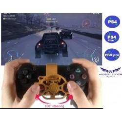 PS4 sorozat - Kontrollerhez kormány kiegészítő -fekete fém