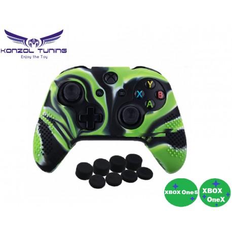 Xbox One S és X - Kontrollerhez szilikon borítás és joystick sapka
