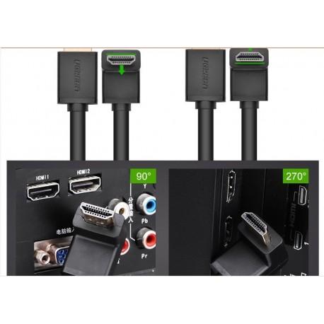 HDMI KÁBEL - L-Profilú HDMI kábel 90 fokos 2 méteres -M/M