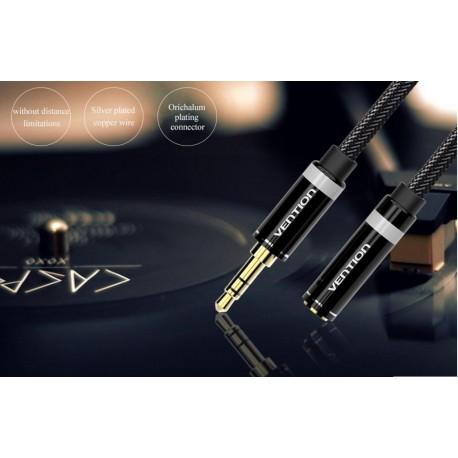 HIFI - AUDIO KÁBEL - 3,5 audio kábel 50cm , M/FM fejhallgató hosszabbító -Vention