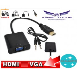 ÁTALAKÍTÓ - ADAPTER - HDMI-VGA adapter + audio kábel Male to Female