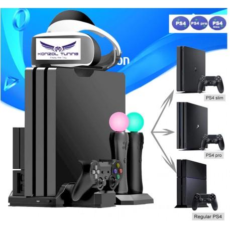 PS4 sorozat - Komplett állvány plusz  hűtés, töltés, USB HUB