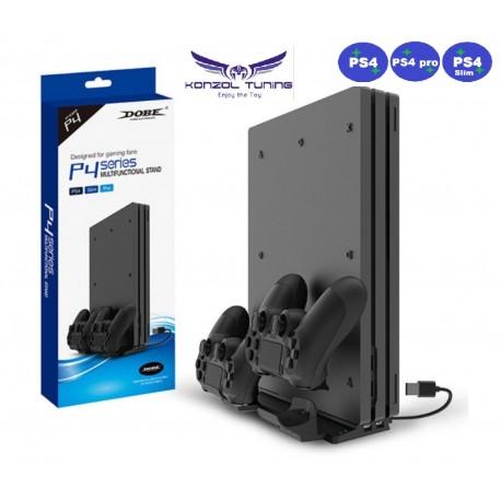 PS4 sorozat - Komplett állvány plusz két kontroller töltés, USB HUB