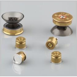 Joystick gomb - Brass Bullet gomb szett - arany színű PS3/PS4 kontorllerhez