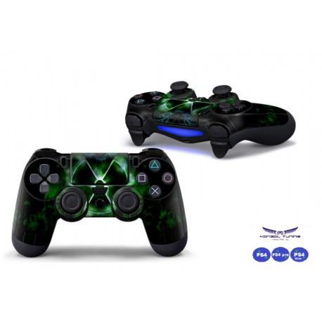 PS4 sorozathoz - Kontoller matrica -Green X