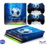 PS4 Pro - Konzolra és kontrollerre - Matrica - Foci