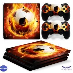 PS4 Pro - Konzolra és kontrollerre - Matrica - Fire