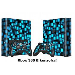 XBOX 360 E -Konzolra és kontrollerekre Matrica - Blue Cube