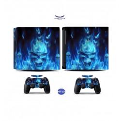PS4 Pro - Konzolra és kontrollerre - Matrica - Skull