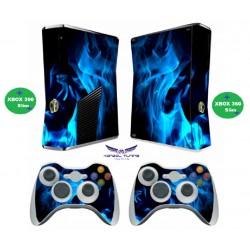 Xbox 360 - Konzolra és kontrollerre Matrica - Blue Line