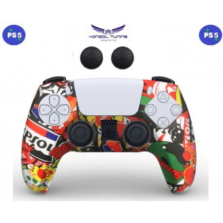 PS5 - Kontrollerhez szilikon borítás - NF
