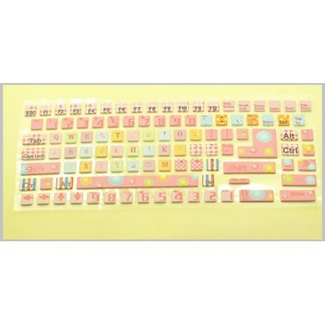 Laptop billentyűzet matrica - Pink Think