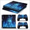 PS4 Skin - Konzolra és kontrollerre - Skull - Ice Blue