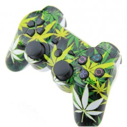 PS3 - Kontroller Cannabis - dual vibration wireless