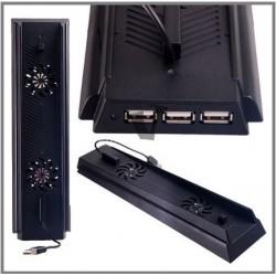 Állvány - Vertikális - Hűtő - Töltő - USB HUB  PS4-hez ledfénnyel