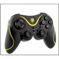 Kontroller  - WIFIS - Doubleshock - Led PS3 ,PC fekete-sárga