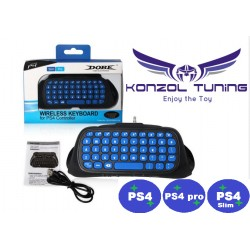 PS4 - Kontrollerhez chatpad - kék gombokkal