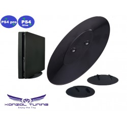 PS4 Pro  és PS4 Slim- Konzolhoz vertikális állvány - fekete fényes
