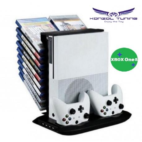 Hűtő- állvány -kontroller töltő- USB HUB - játéktár -  egyben - Giant XBOX ONE S állvány