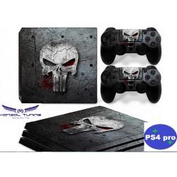 PS4 Pro - Konzolra és kontrollerre  - Matrica - -Skull