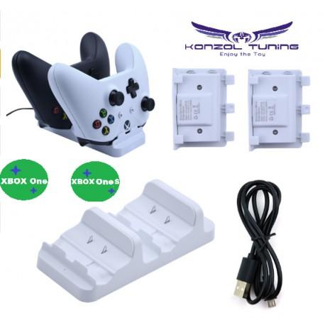Kontroller töltő XBOX ONE-hoz + akkumulátor -fehér