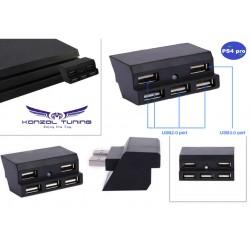 PS4 Pro - Konzolhoz USB HUB -5 portos -Prémium
