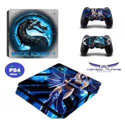 PS4 Slim  - Konzolra és kontrollerre -Matrica -Mortal