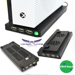 Hűtő állvány Xbox One S konzolhoz - fekete