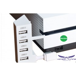 USB HUB - Prémium minőségű USB Hub Xbox One S-hez fehér