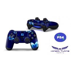 PS4 sorozat - Kontoller matrica PS4- szériához - Blue Flower
