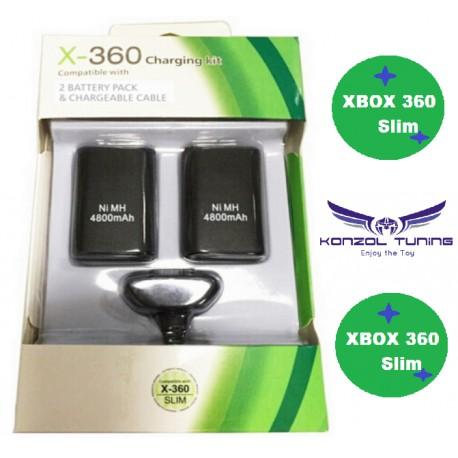 Xbox 360 - Akkumulátor szett kontrollerhez -dupla akksival