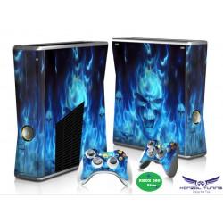 Xbox 360 - Konzolhoz és kontrollerhez - Matrica - Blue Skull