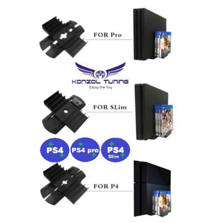 PS4 Classic  -PS4 Slim - PS4 Pro - Konzolhoz állvány és játék tartó