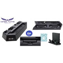 PS4 Slim - Konzol állvány - hűtő - USB HUB - kontroller töltő egyben