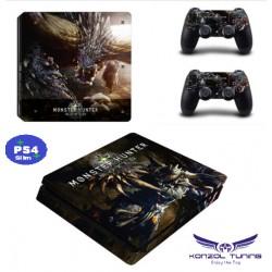 PS4 Slim - Konzolra és kontrollerre - Matrica - M.H.
