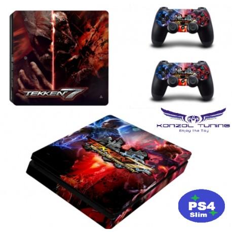 PS4 Slim - Konzolra és kontrollerre - Matrica -  T Style