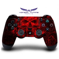 PS4 sorozat - Kontoller matrica  - Red Skull