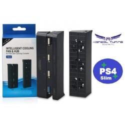 PS4 Slim  - Konzolhoz Turbó hűtő és USB Hub