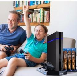 PS4 -Konzol állvány, hűtő és dokkoló ás game storage egyben - Apolló
